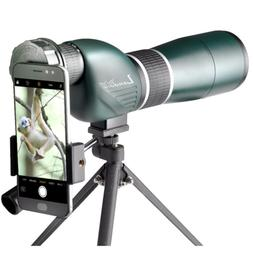 Landove 15-45x60 Straight Spotting Scope with Portable Tripo