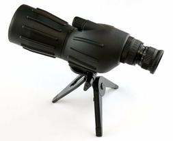 15X-40X50 Grooved Spotting Scope with Mini Tripod-Clam Packa
