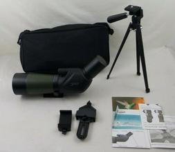 Gosky 20-60x60 Spotting Scope with Tripod, Carrying Bag and