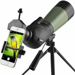 Gosky 20-60x60 HD Spotting Scope with Tripod Carrying Bag Ph