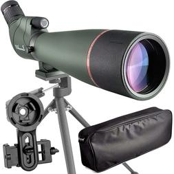 20-60X80 Prism Spotting Scope- Waterproof Scope Outdoor Acti