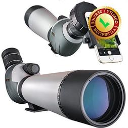 Landove 20-60x80 Zoom Spotting Scope - HD 24mm BAK4 Angled B