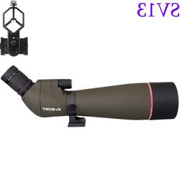 SVBONY SV13 20-60x80mm Spotting Scope FMC Waterproof &Cell-P