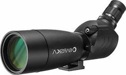Barska Blackhawk Waterproof Spotting Scope, Black, Angled, 2