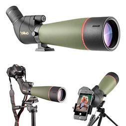Gosky 2019 Updated Newest Spotting Scope with Tripod, Carryi