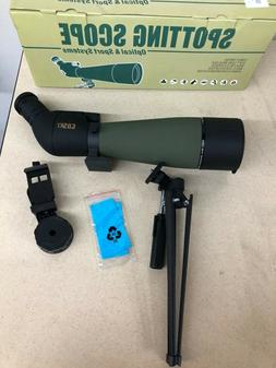Gosky 2019 Updated Spotting Scope With Tripod + Carrying Bag