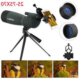 Waterproof 25-75X70 Zoom Monocular BAK4 Spotting Scope w/ Tr