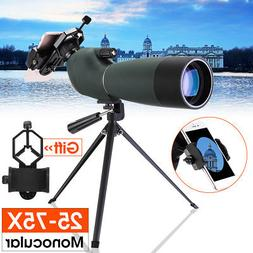 25-75X70 Zoom Waterproof Monocular BAK4 Spotting Scope Anti-