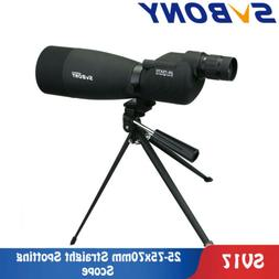 SVBONY 25-75x 70mm Straight Spotting Scopes Waterproof Targe