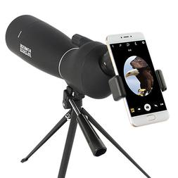 AOMEKIE 25-75X70 Spotting Scope With Tripod & Phone Adapter