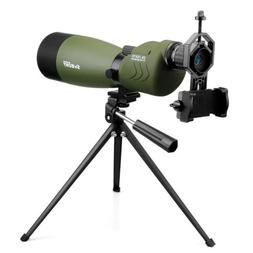 SVBONY 25-75x70mm Waterproof Straight Spotting Scopes for Ta