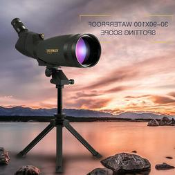 30 90x100ss fog waterproof angle spotting scope