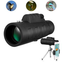 50x60 Zoom Monocular Telescope HD Spotting Scope with Clip T