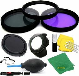67MM HD ACCESSORIE KIT LENS HOOD+LENS CAP GIFTS FOR Canon EO