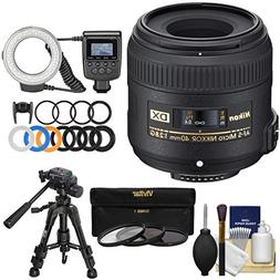 Nikon 40mm f/2.8 G DX AF-S Micro-Nikkor Lens with Ring Light