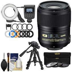 Nikon 60mm f/2.8G AF-S ED Micro-Nikkor Lens with Ring Light