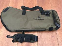 angled spotting scope green padded soft case