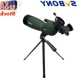SVBONY SV28Angled Zoom Spotting Scope 25-75x70mm Waterproof+