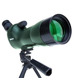 USCAMEL Spotting Scope 20-60X60 Waterproof Birdwatching Mono