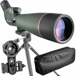 Birdwatching 20-60X 80 Prism Spotting Scope-Waterproof Scope
