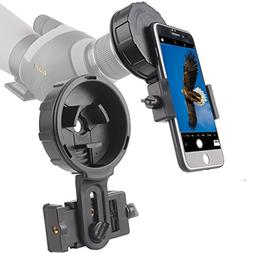 Landove Cellphone Telescope Adapter Mount, Work with Binocul