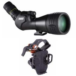 Vanguard Endeavor HD 82A 20-60x Angled Spotting Scope and Sm