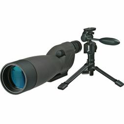 Tasco Essentials 20-60x60 Spotting Scope, Matte w/Tripod, So