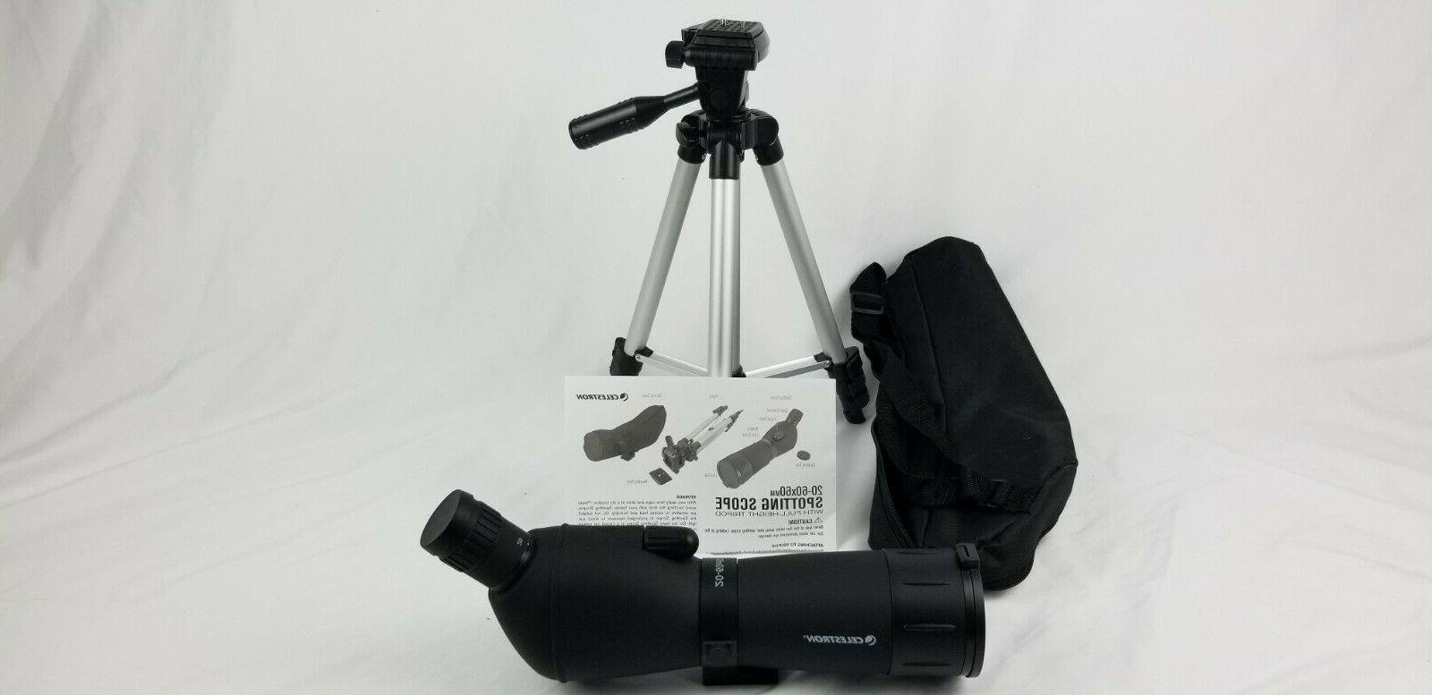 20 60x60mm spotting scope with full height