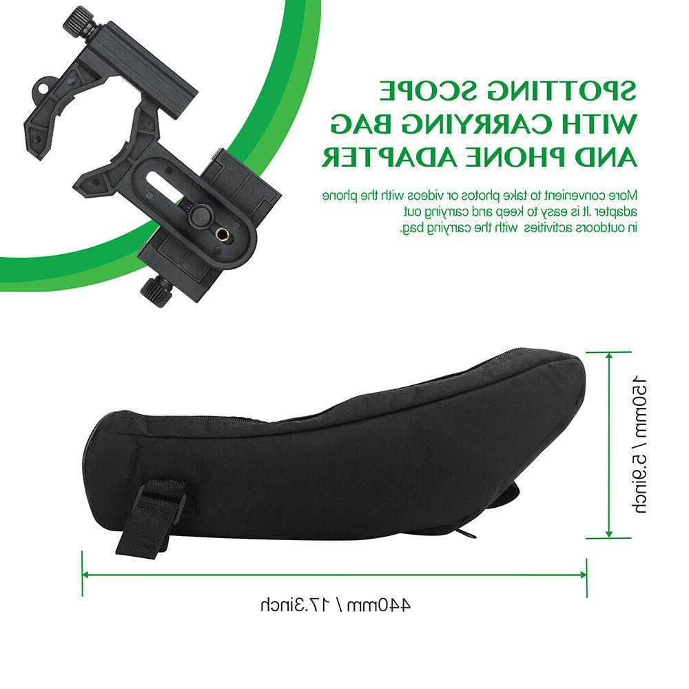 20-60X80 Spotting Vision Hunting Watching with Holder
