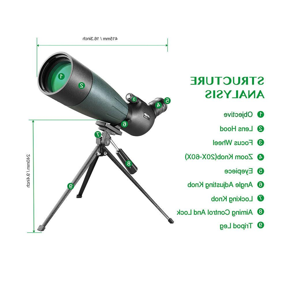 20-60X80 Vision Hunting Watching with Mobile