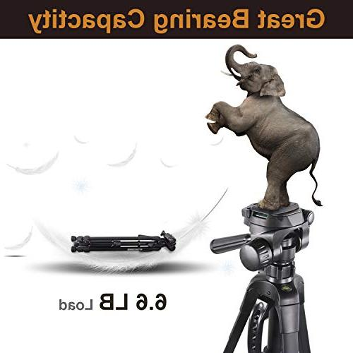 Emarth 55'' Lightweight Tripod, Aluminum Compact Tripod with Fluid Pan Nikon Canon Sony Camcorder