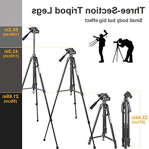 Tripod, Aluminum Compact Tripod with Fluid Camcorder