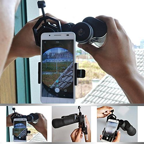 Vankey Telescope Mount, with Monocular for Samsung, LG and