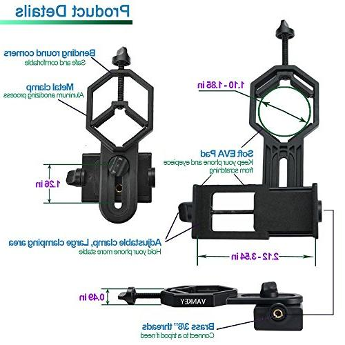 Vankey Cellphone Mount, with Monocular Microscope for Samsung, HTC, LG and