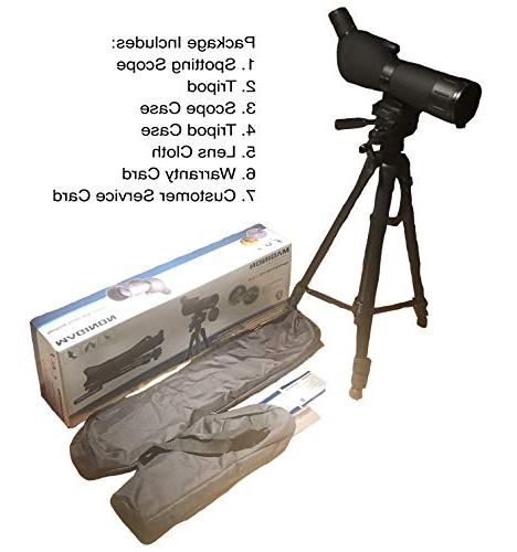 Maginon Spotting Scope with 20-60x60 Zoom for Watching Target Shooting