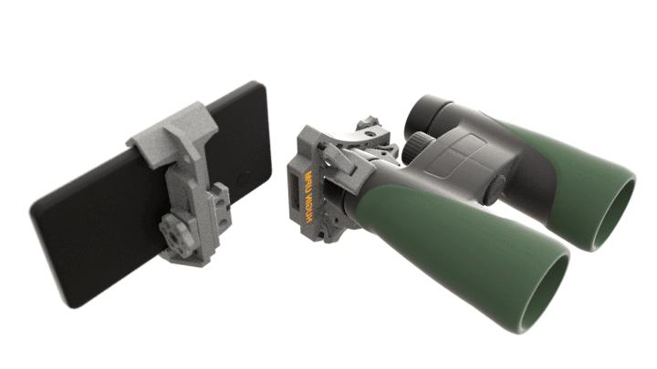 HUGIN MkII Mount and binoculars