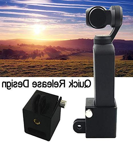 Vertily Mini Gimbal Holder Lightweight with 1/4 Screw Port Adapter for Self-Portraits Handheld Long Shooting Can