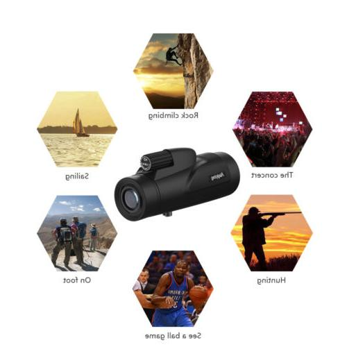 Monocular Telescope Waterproof Power Scopes Adults