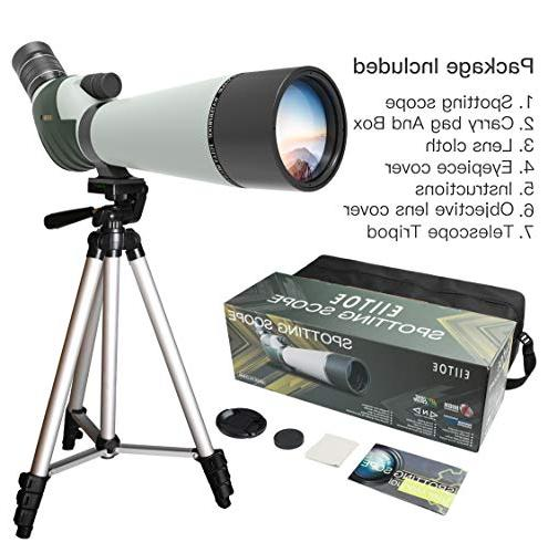 ELLTOE Spotting 45-Degree Big Eyepiece,Waterproof Fogproof Scope Archery Wildlife Scenery