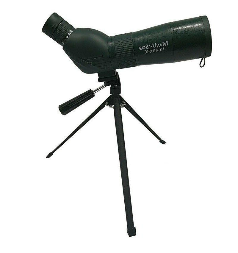 Pro Target Shooting Spotting Scope, 60mm Lens, 15X-45X With Tripod