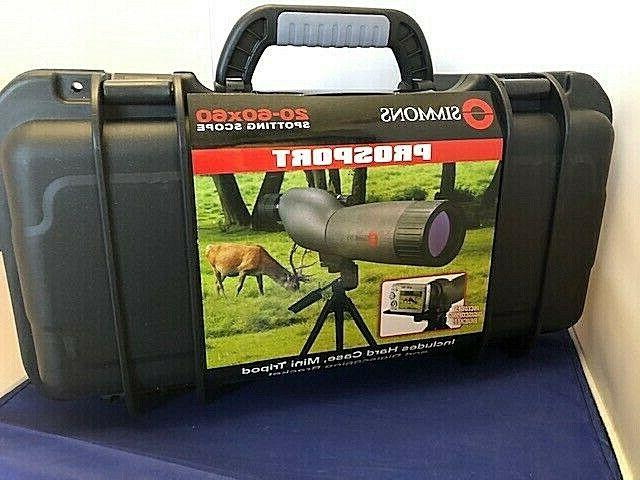 prosport 20 60x60 spotting scope hard case