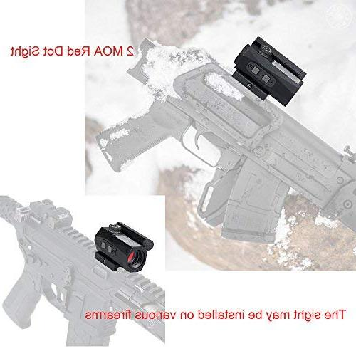 Red Solar Charging Battery 2 CANIS LATRANS Rifle scope for