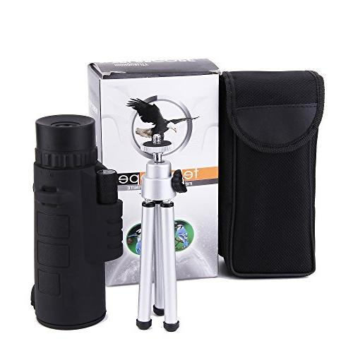 LU2000 Tripod Kickstand, Wide View Mono Lens Lid Spotting for Watching Hunting Travelling