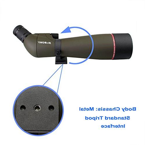 SVBONY SV13 Spotting Scope IPX7 for with Carrying Case