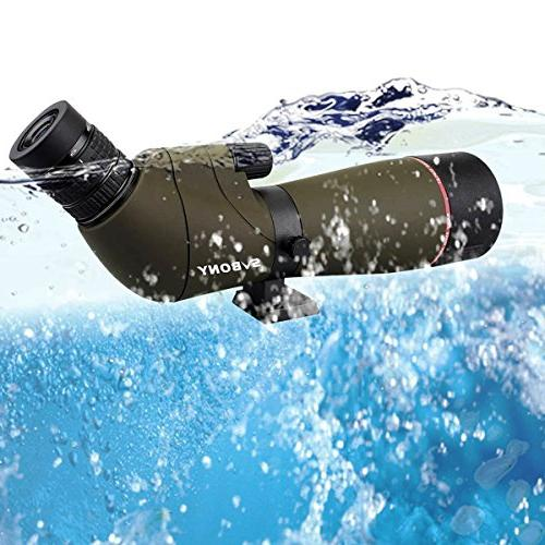 SVBONY Scope Telescope IPX7 Waterproof for Hunting Bird Watching with Carrying
