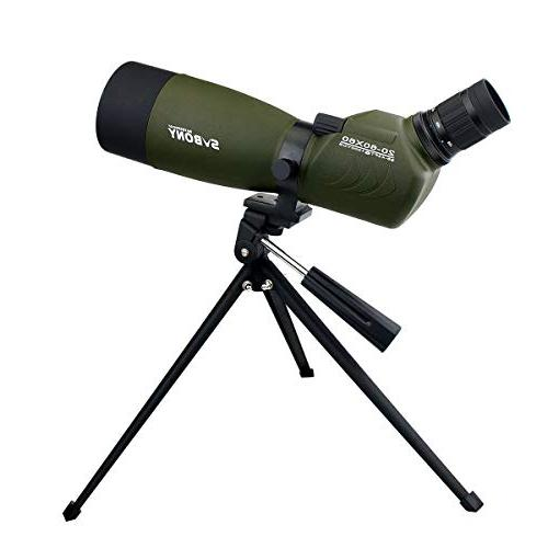 SVBONY 20-60x60/25-75x70mm Spotting Scope Scope Telescope IP65 FMC Optical