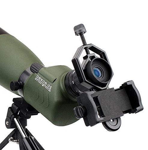 SVBONY 20-60x60/25-75x70mm Shooting Scope Scope IP65 FMC Optical Lens with Tripod and Phone Adapter