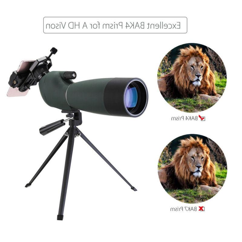 Spotting Scope With Tripod&Phone For Target Shooting