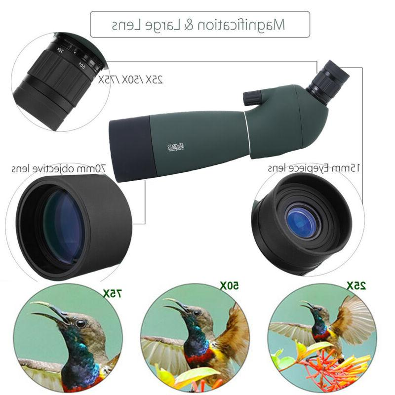 Spotting Scope 25-75X70 With Tripod&Phone Target