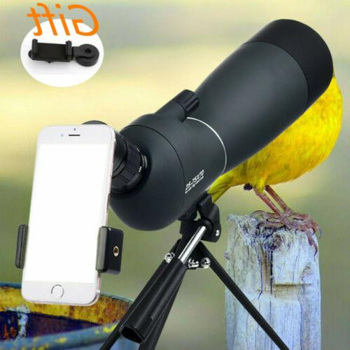 spotting scope 25 75x70 telescope with tripod